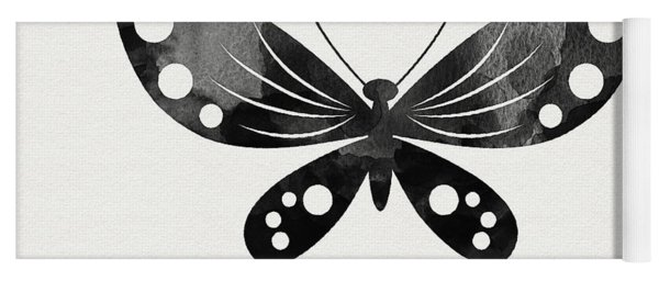 Midnight Butterfly 3- Art By Linda Woods Yoga Mat