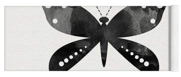Midnight Butterfly 4- Art By Linda Woods Yoga Mat