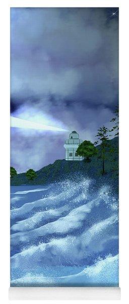 Midnight Lighthouse Yoga Mat