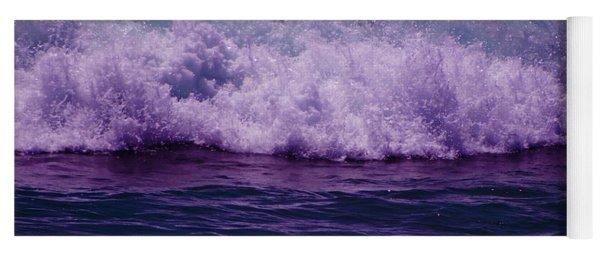 Midnight Ocean Wave In Ultra Violet Yoga Mat