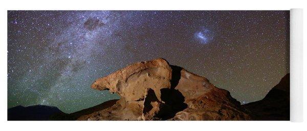 Milky Way And Lava Rock Formation North Lipez Bolivia Yoga Mat
