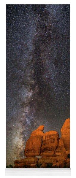 Milky Way And Navajo Rocks Yoga Mat