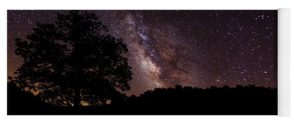 Milky Way And The Tree Yoga Mat