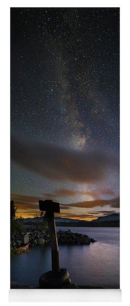 Milky Way At Flagstaff Lake Yoga Mat