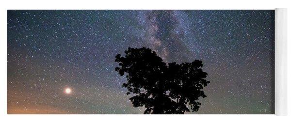 Milky Way, Mars And Heart Tree Yoga Mat