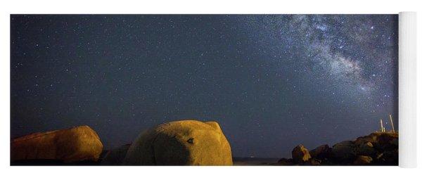 Milky Way On The Beach Yoga Mat
