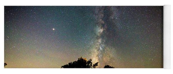 Milky Way Over Glen Rose Yoga Mat