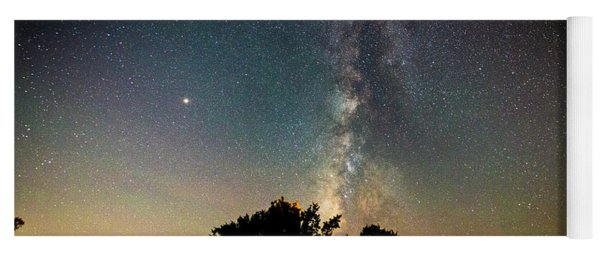 Milky Way Over Glen Rose Yoga Mat