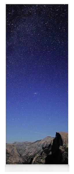 Milky Way Over Half Dome Yoga Mat