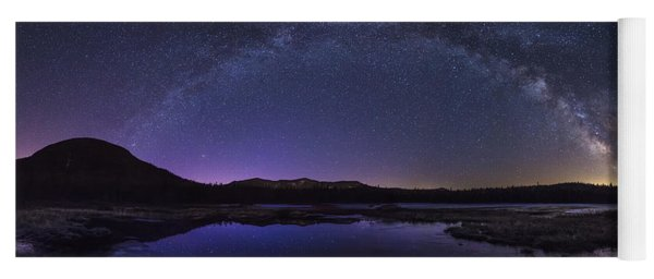 Milky Way Over Lonesome Lake Yoga Mat