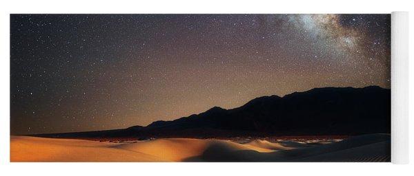 Milky Way Over Mesquite Dunes Yoga Mat