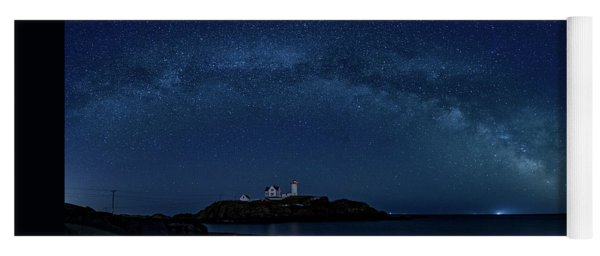 Milky Way Over Nubble Yoga Mat