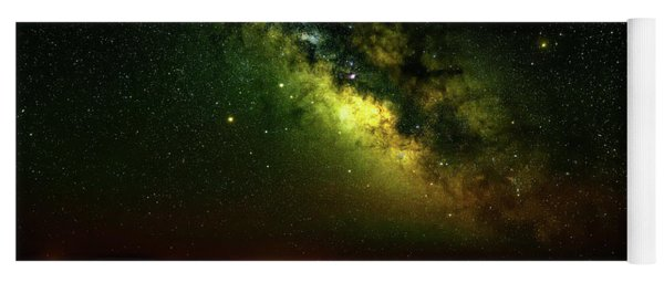 Milky Way Over The Maze Yoga Mat
