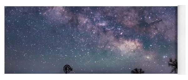 Milky Way Over The Prairie Yoga Mat