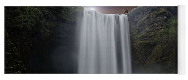 Milkyway Arch Over Raging Waterfall By Adam Asar 3aa Yoga Mat