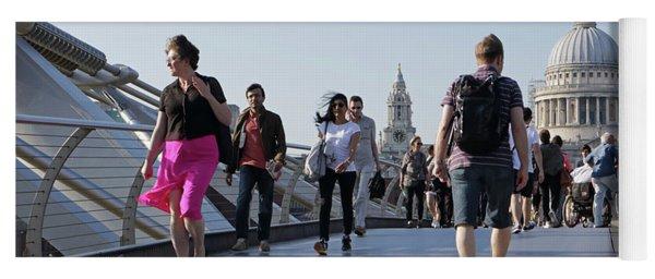 Millennium Bridge Crossing The Thames Yoga Mat