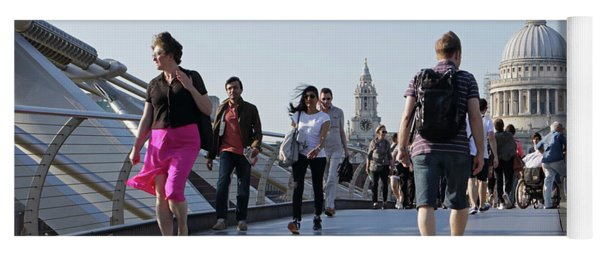 Millennium Bridge Crossing The Thames Yoga Mat