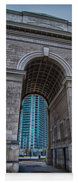 Millennium Gate Triumphal Arch At Atlantic Station In Midtown At Yoga Mat