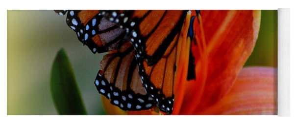 Mingle With A Monarch Yoga Mat