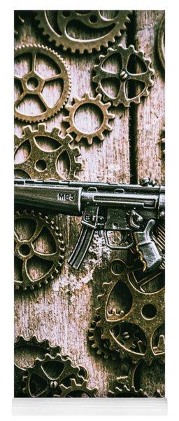 Miniature Mp5 Submachine Gun Yoga Mat
