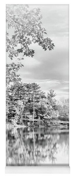 Minimalist Fall Scene In Black And White Yoga Mat