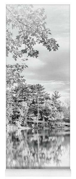 Minimalist Fall Scene In Black And White Yoga Mat