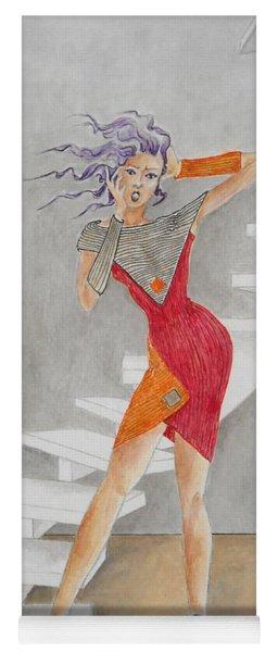 Minimalist Madness -- Whimsical Fashion Drawing Yoga Mat