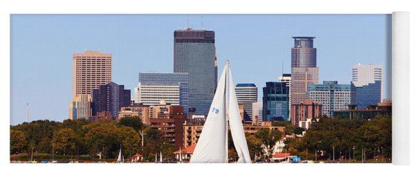 Minneapolis Skyline Lake Calhoun Sailing Yoga Mat