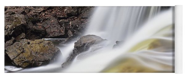 Minneopa Falls Closeup Yoga Mat