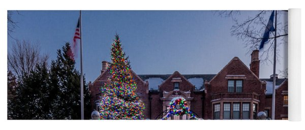 Yoga Mat featuring the photograph Christmas Lights Series #6 - Minnesota Governor's Mansion by Patti Deters