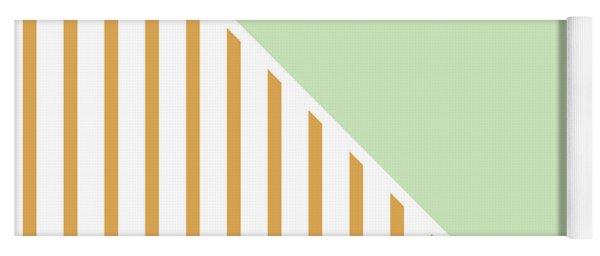 Mint And Gold Geometric Yoga Mat