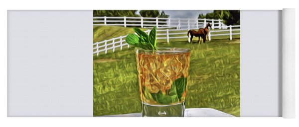 Mint Julep Kentucky Derby Yoga Mat