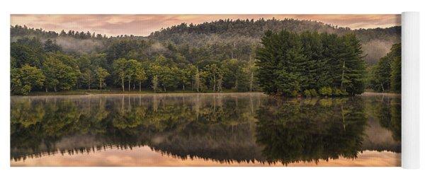 Bass Lake Sunrise - Moses Cone Blue Ridge Parkway Yoga Mat