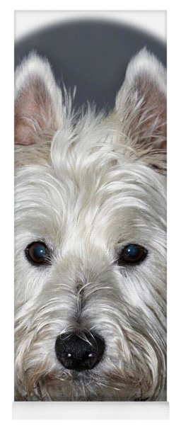 Mischievous Westie Dog Yoga Mat