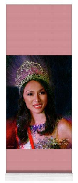 Miss Asian America 2016 Jessica Lim Yoga Mat