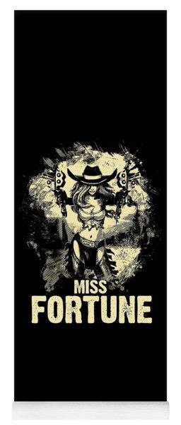 Miss Fortune - Vintage Comic Line Art Style Yoga Mat