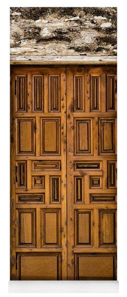 Mission Concepcion Door #3 Yoga Mat