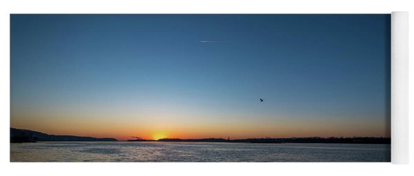 Mississippi River Sunrise Yoga Mat