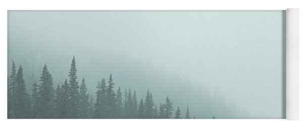 Mist On The Morning Hills Yoga Mat
