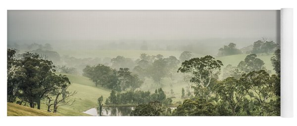 Yoga Mat featuring the photograph Mist Valley by Ray Warren