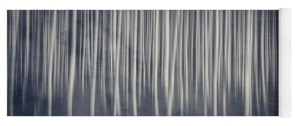 Misty Birch Forest  Yoga Mat