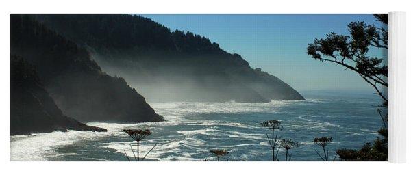 Misty Coast At Heceta Head Yoga Mat