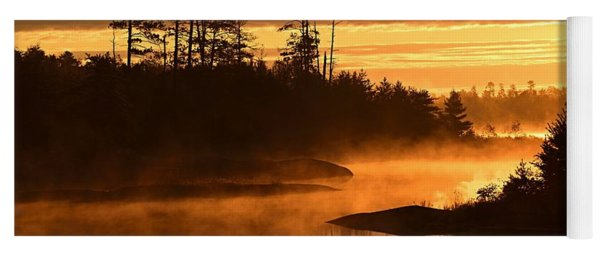 Misty Dawn At Gabbro Lake Yoga Mat