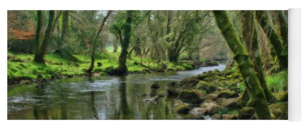 Misty Day On River Teign - P4a16017 Yoga Mat