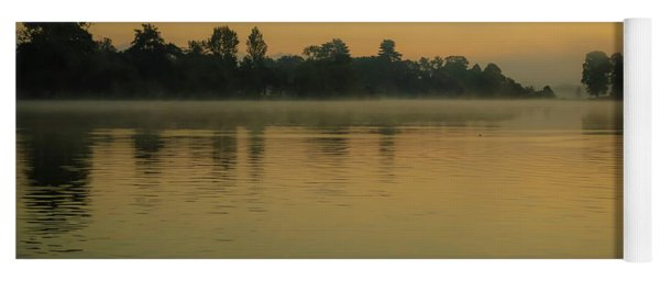 Misty Morning Lake Yoga Mat
