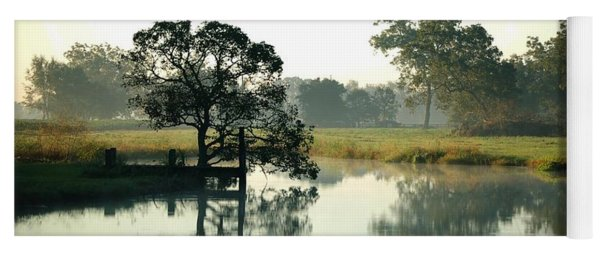 Misty Morning Pond Yoga Mat