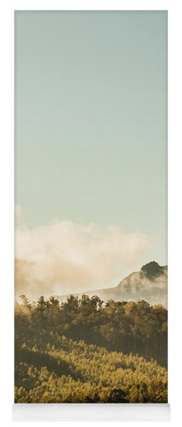 Misty Mountain Peaks Yoga Mat