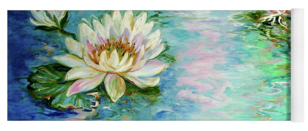 Misty Waters Waterlily Pond Yoga Mat