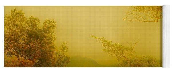 Misty Yellow Hue- El Valle De Anton Yoga Mat