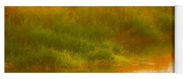 Misty Yellow Hue -lone Jacana Yoga Mat